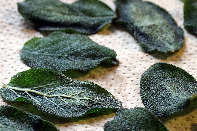 crispy sage leaves