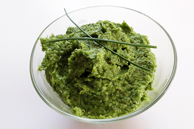 Chive Pesto | In the Kitchen with Kelly