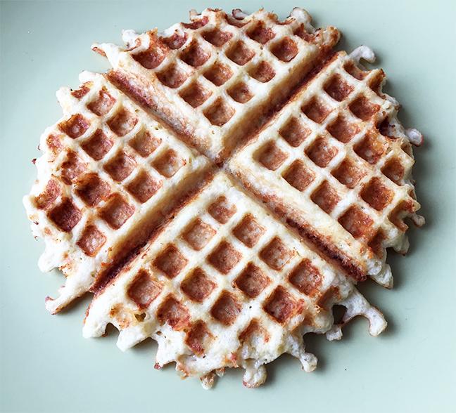 cauliflower waffle
