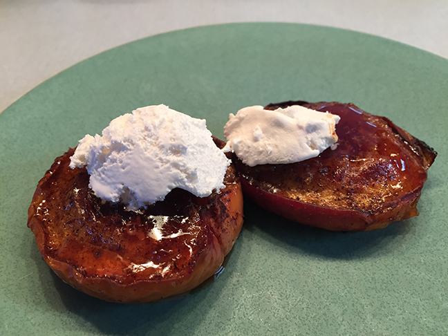 roasted nectarines with cream