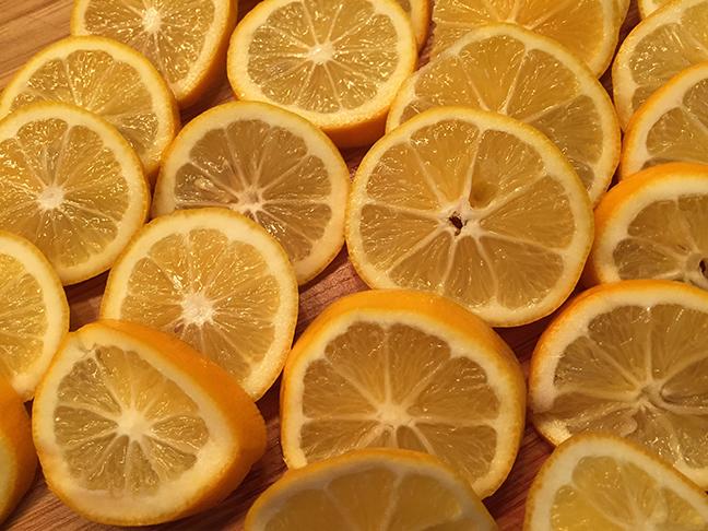 Meyer lemon wheels