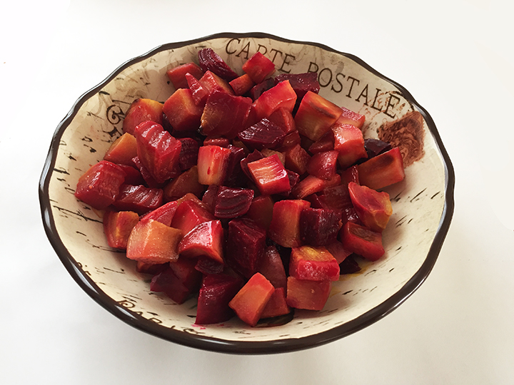 roasted beets and root veggies